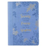 God, Grant Me the Serenity Journal, Lux-Leather, Blue