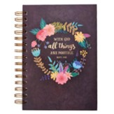 With God All Things Are Possible Spiral-bound Journal