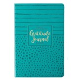 Gratitude Journal for Moms--lux leather, teal