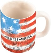 God Bless America Flag Mug, 10 ounce