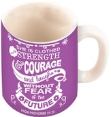 Strength And Dignity Mug, Proverbs 31:25, 10 ounce