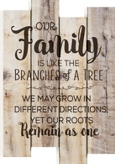 Our Family Is Like the Branches Of A Tree, Staggered Pallet Art