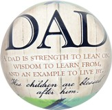 A Dad Is Strength To Lean On Paperweight