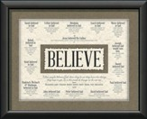 Believe, Blessed Are Those ...Wall Art