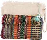 Zipper Tote Bag, Fringed Jute