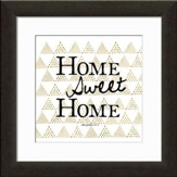 Home Sweet Home Typography Framed Art, Joshua 24:18