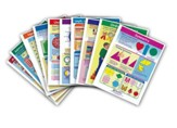 Math Visual Learning Guides Set,  Grade 2 (10 Different Guides)