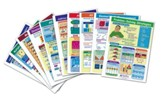 Math Visual Learning Guides Set,  Grade 3 (10 Different Guides)