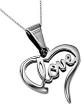 Love Handwriting Heart Necklace