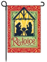 Rejoice Manger Flag, Small
