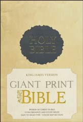 KJV Giant Print Bible, Charcoal Imitation leather