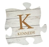 Personalized, Puzzle Piece Plaque, White