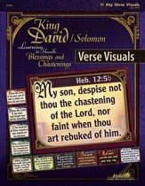 King David/Solomon: Learning to Handle Blessings and  Chastenings Adult Bible Study Key Verse Visuals