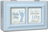 Footprint Music Box, Baby Boy