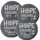 Hope Anchors the Soul Coasters, Set of 4