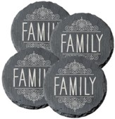 Family Coasters, set of 4