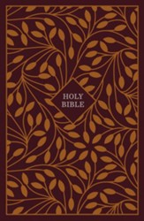 KJV Thinline Reference Bible Cloth over Board Burgundy/Orange
