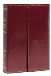 KJV Compact Reference Bible with Snapflap, Large Print, Leather-Look, Burgundy