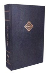 NKJV Deluxe Reader's Bible--hardcover, cloth over board, Blue, Hardcover, Navy