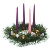 Gold Pinecone Advent Wreath