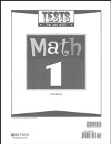 BJU Math Grade 1 Tests, Third Edition
