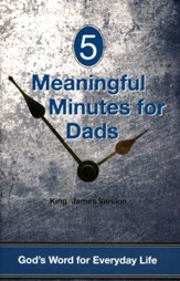 5 Meaningful Moments for Dads, Pocket-Size Devotion Book, KJV