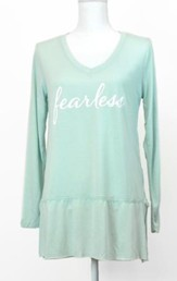 Fearless, Long Sleeve Shirt, Mint,  XXLarge