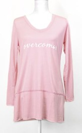 Overcomer, Long Sleeve Shirt, Pink, Large