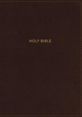 NKJV Comfort Print Thinline Reference Bible, Large Print, Imitation Leather, Brown