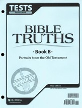 BJU Bible Truths Level B (Grade 8), Tests Answer Key, 3rd Edition