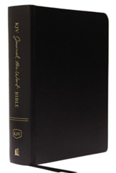 KJV Comfort Print Journal the Word Bible, Hardcover, Black