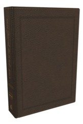 NKJV Comfort Print Journal the Word Bible, Bonded Leather, Brown