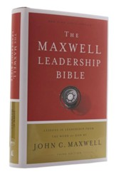 NKJV Comfort Print Maxwell Leadership Bible, Third Edition, Hardcover - Slightly Imperfect