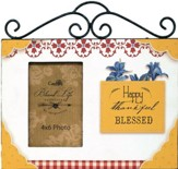 Happy, Thankful, Blessed, Photo Frame