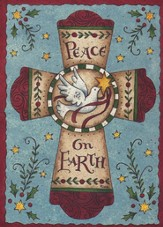 Peace On Earth Cross (2 Peter 1:2, NIV), 20 Count Boxed Christmas Cards