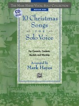 10 Christmas Songs for Solo Voice Volume 2 Songbook & Medium High Audio CD