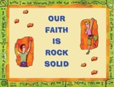 Instant Bulletin Board - Our Faith is Rock Solid - PDF Download [Download]