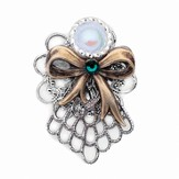 Always Brave Angel Pin, Green