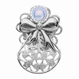 Always Brave Angel Pin, White