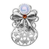 Always Brave Angel Pin, Orange