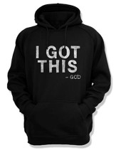 I Got This God, Hooded Sweatshirt, Black, Large