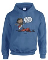You Mad? Hooded Sweatshirt, Blue, Medium