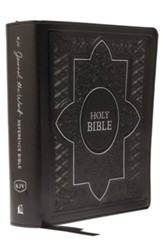 KJV Comfort Print Journal the Word  Reference Bible, Imitation Leather Black