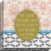 For I Know The Plans Canvas Art, Jeremiah 29:11