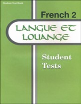 Langue et louange French Year 2 Student Tests