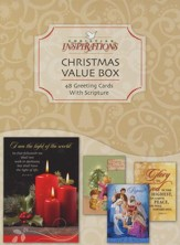 Value Box, Assorted Christmas Cards, Box of 48