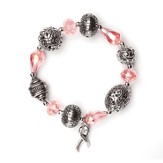 Believe For A Cure, Bali Bracelet, Rhodium