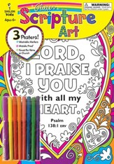 Glitter Scripture Art Poster Set