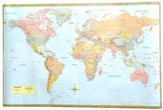 World Map Poster 50 x 32