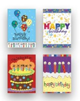 Celebrate Birthday Cards, Box of 12